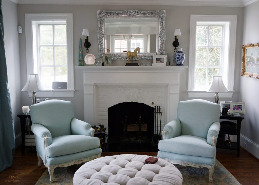 Custom upholstered armchair and ottoman 05
