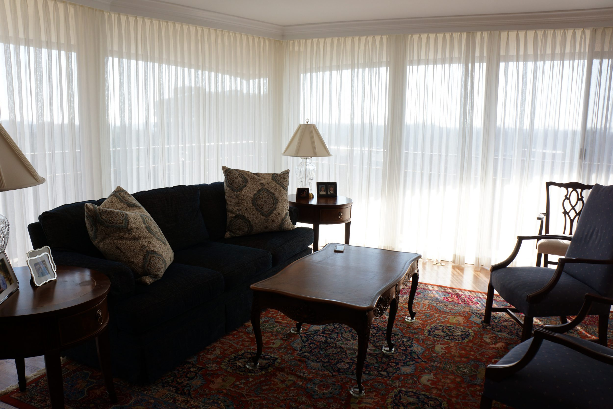Sheer Panels on Traverse rods for Living room